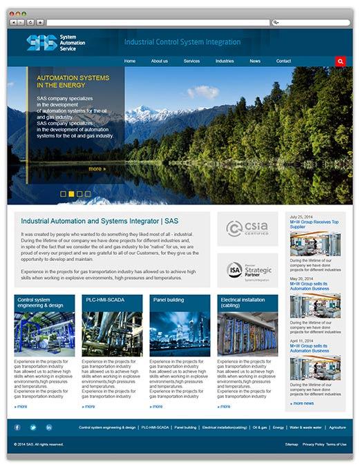 Создание сайта SAS