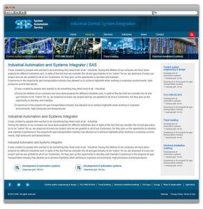 Разработка сайта SAS