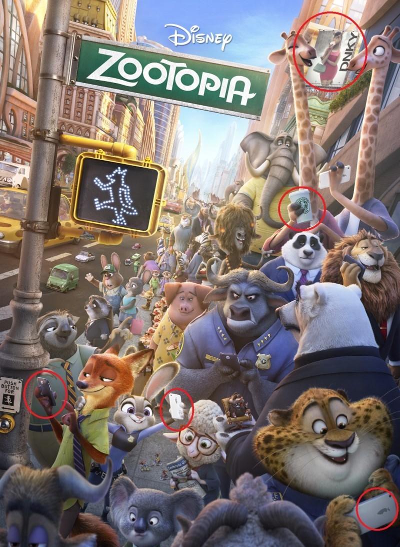 Реклама в мультфільмі «Зоотрополіс»
