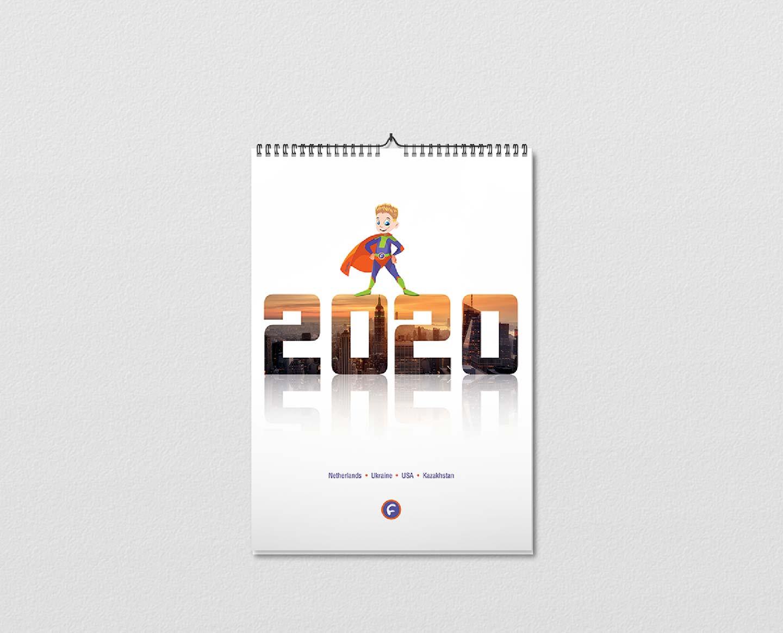 Календарь «Супергерои Footbik»