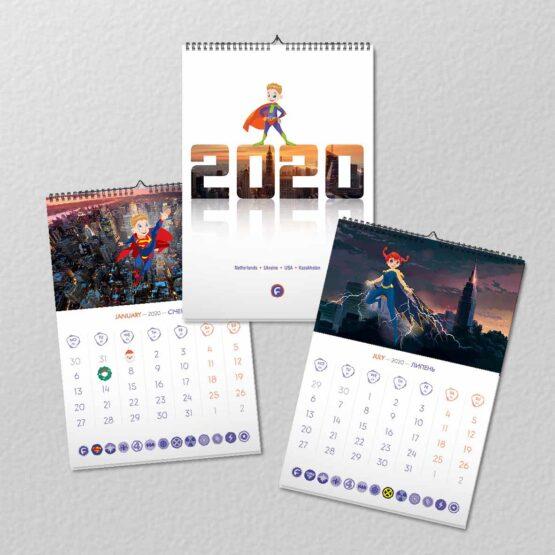 Календарь для Footbik
