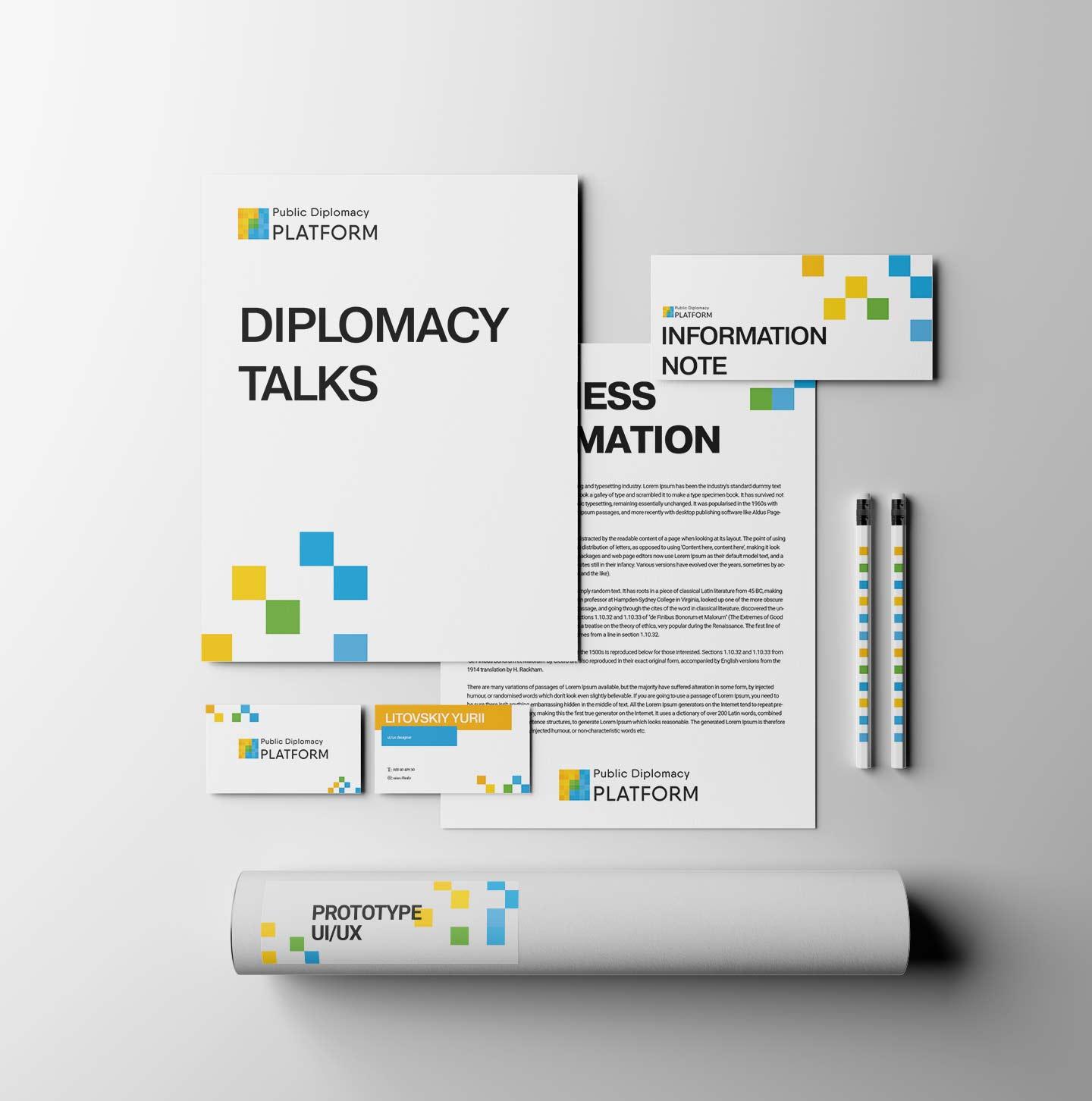 Public Diplomacy Platform - логотип и фирменный стиль