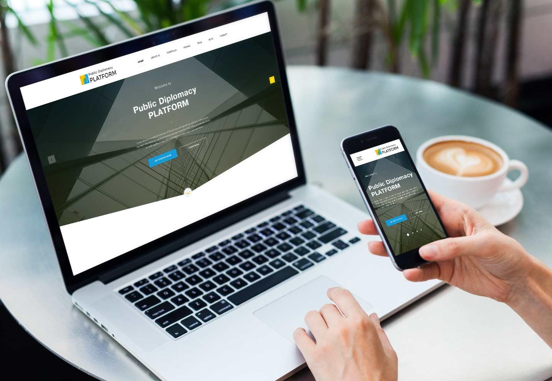 Public Diplomacy Platform - лого и фирменный стиль