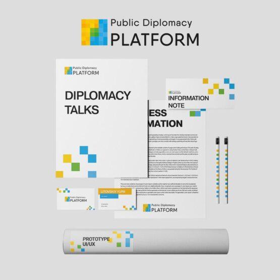 Public Diplomacy Platform - лого и фирменный стиль от MGN