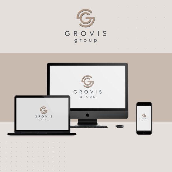Grovis - анимированный логотип