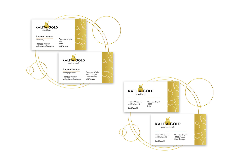 Kalita.Gold - визитки