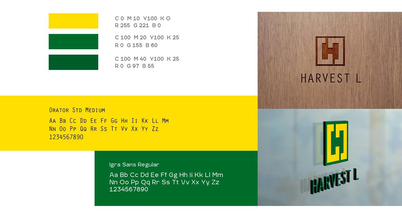 Цветовые решения и шрифты Harvest L