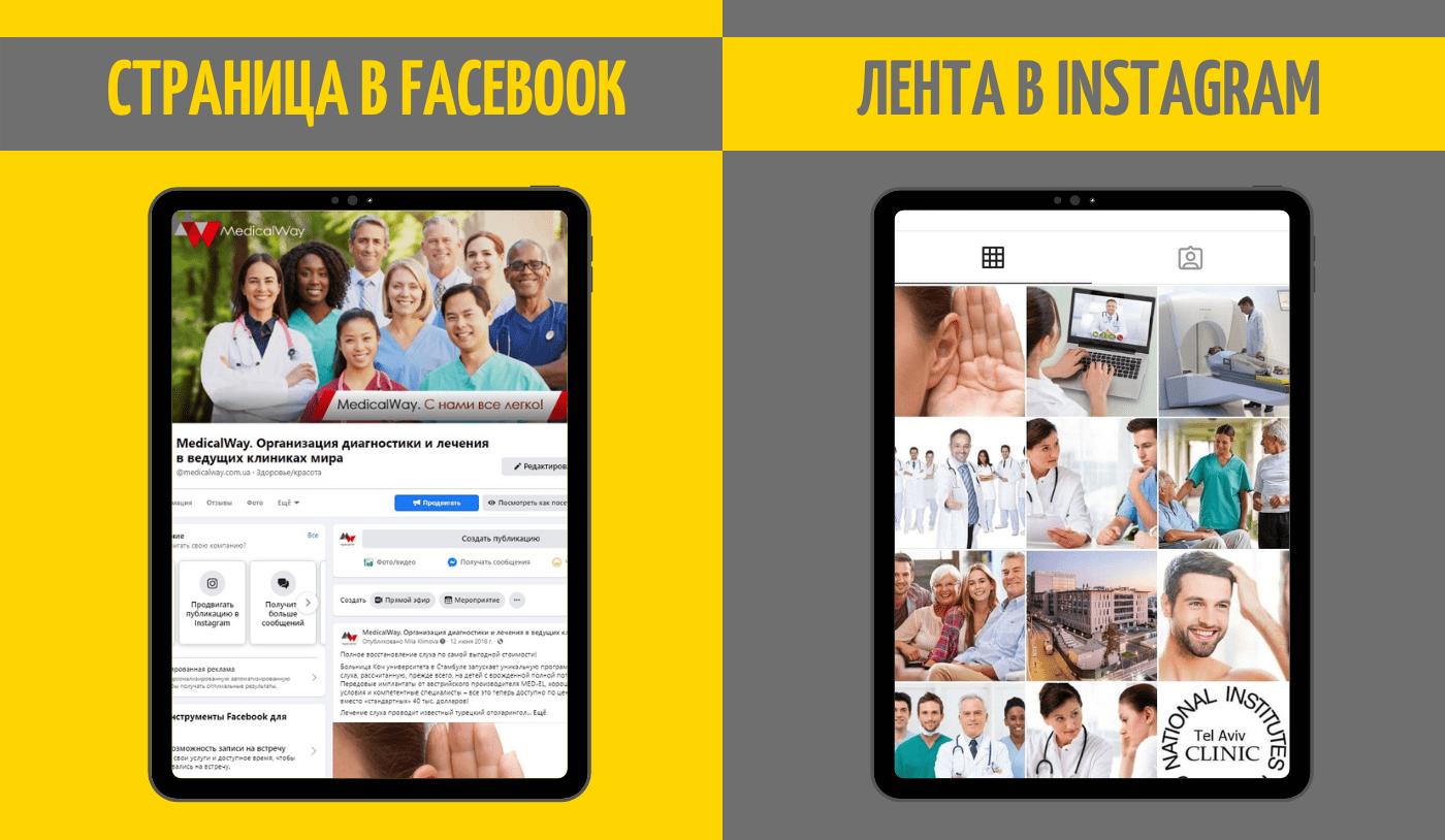 MedicalWay - оформление страниц в соцсетях