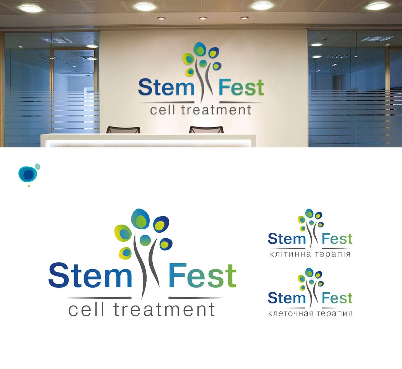 Логотип и фирменный стиль медицинской клиники Stem Fest