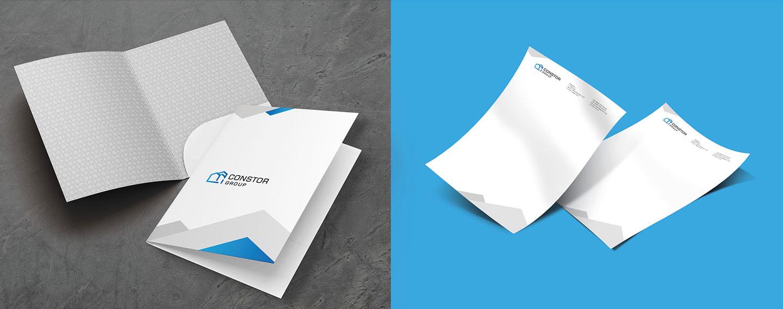 Фирменный стиль папка бланк