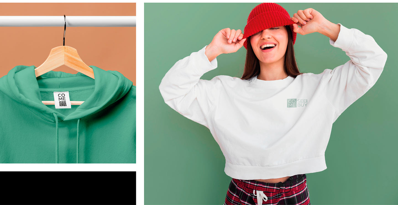 Логотип бренда одежды Come See and Buy