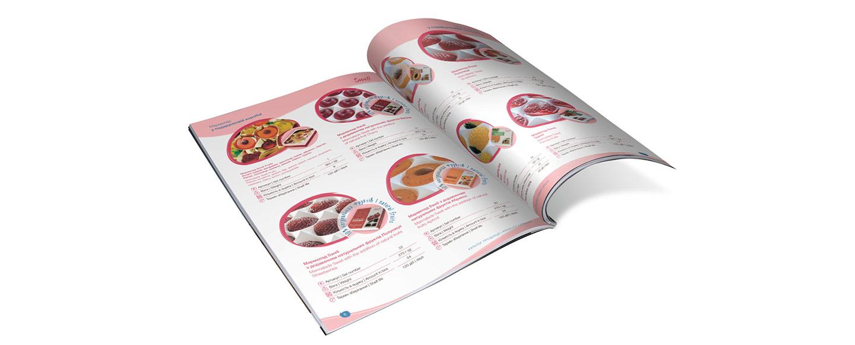 Дизайн каталога кондитерской продукции